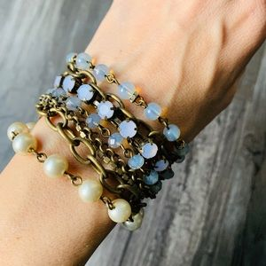 Anthropologie Beaded Magnet Bracelet